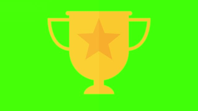 Golden Trophy winning concept, on and off animation green screen keyable Golden Trophy winning concept, on and off animation incentive stock videos & royalty-free footage