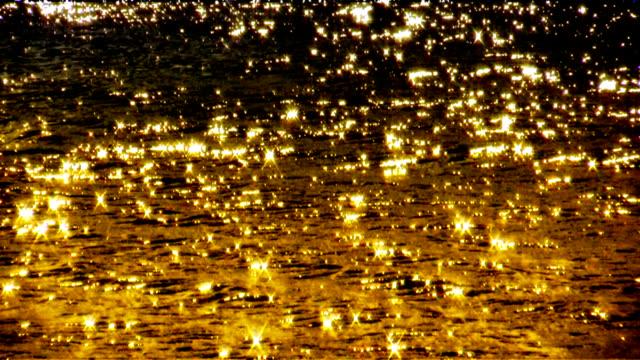 golden glitzernden Meer – Video