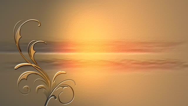 Golden vine background video