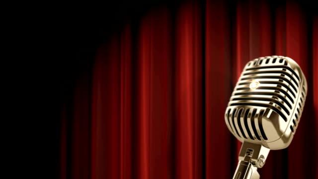 golden vintage microphone video