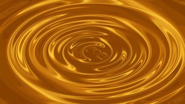 黄金波円形グラデーション キラキラ ループ アニメーションとビデオを波紋します。 - 波紋点の映像素材/bロール