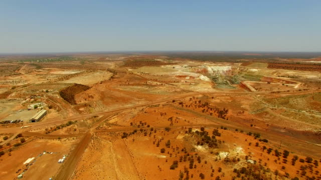 goldfields and gold mine in the australian outback. aerial view - western australia stock videos & royalty-free footage