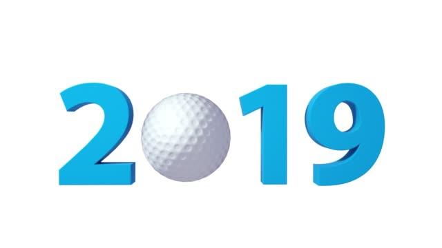 Golf 2019 design background on a White Background.