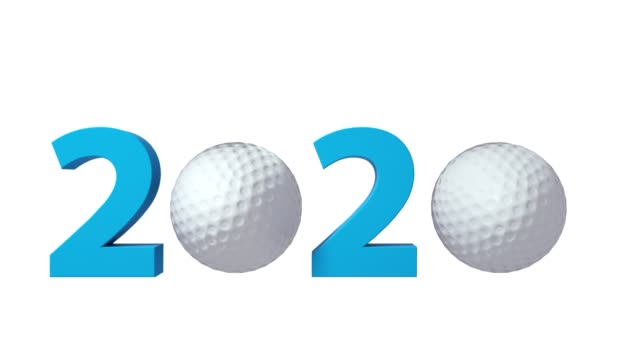 Golf 2020 design background on a Green Screen. 4K