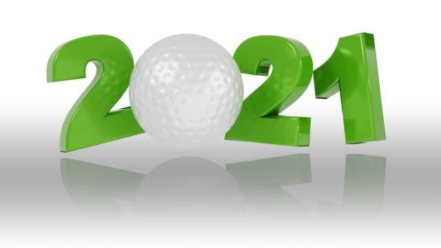 Golf ball 2021 design in Infinite Rotation on White