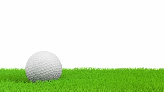 Golf ball and green grass video