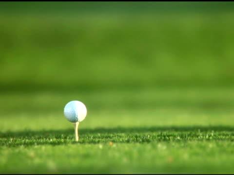 NTSC- Golf ball being teed off video