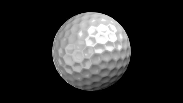golf Ball on black bg video