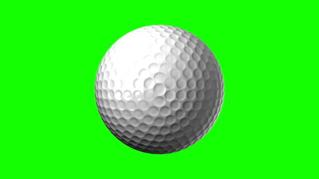 Golf Ball On Green Chroma Key video