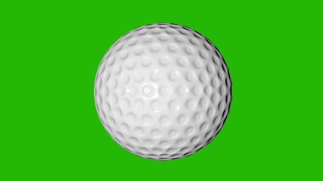 golf ball seamless loop on green screen. chroma key background - grass isolated video stock e b–roll