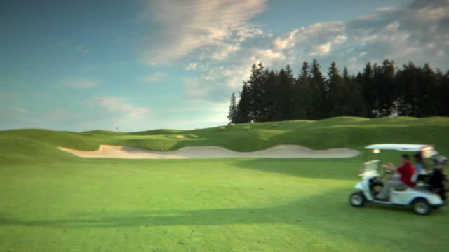 HD Golf Cart Drive Through (opposite) video