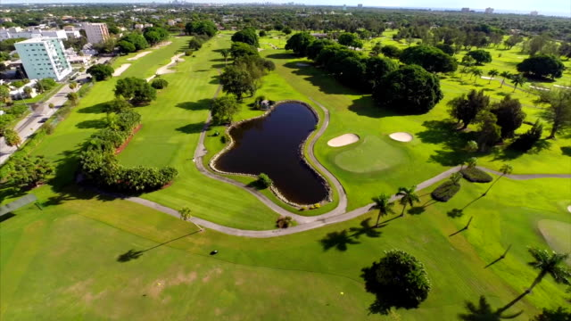 Golf club aerial drone video video
