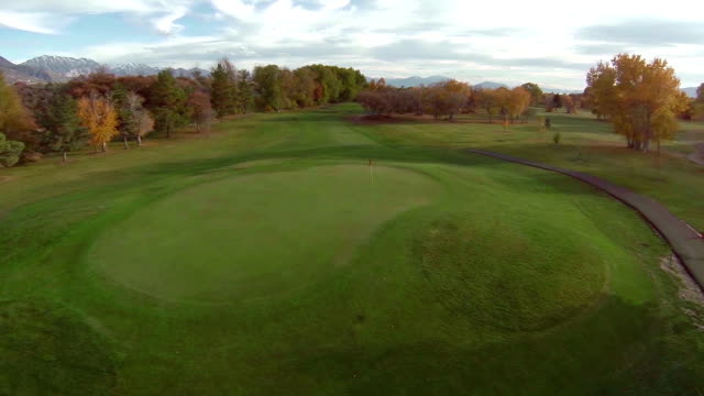 Golf Course Aerial Fly over hole video