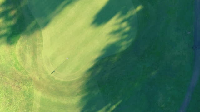Golf Course and Flag Aerial View video