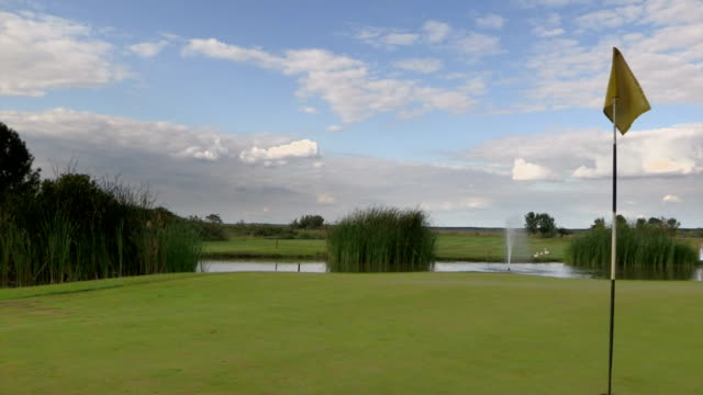 pole golfowe green - dokładność filmów i materiałów b-roll