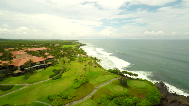 AERIAL Golf Course In Bali video
