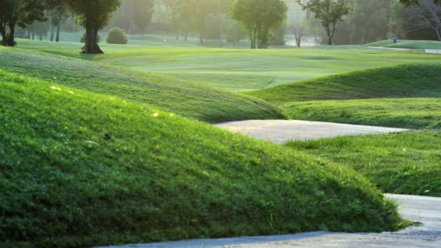 Golf course in the countryside,Green golf field, Golfing Holidays.Sports Cinemagraphs