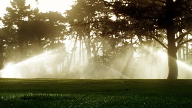 Parcours de Golf d'extincteurs au lever du soleil - Vidéo