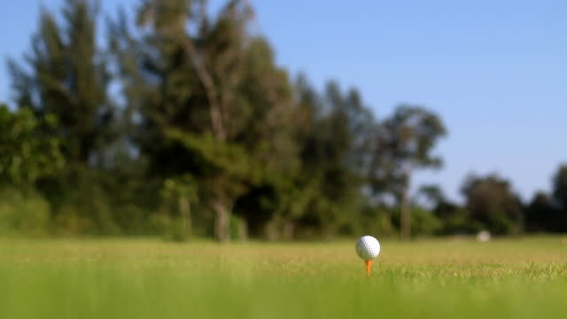 golf player make tee off on a golf course video