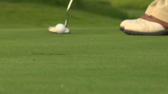 HD de Golfe Putt com espaço para texto - vídeo