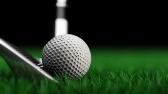 Columpio en cámara lenta Animación de Golf - vídeo