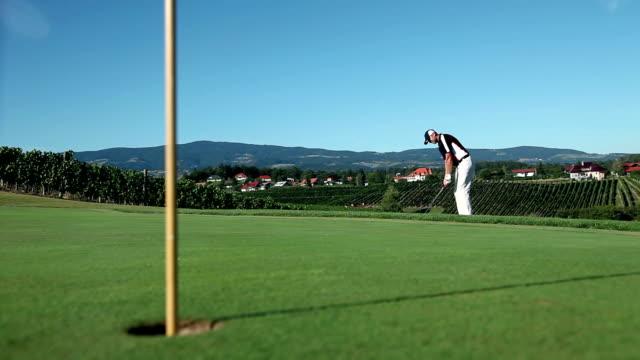 hd szeroki: golf huśtanie się - dokładność filmów i materiałów b-roll