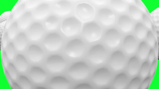 HD : Golf-ball Animation with Green Screen. video