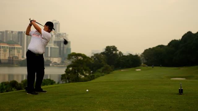 Golfer making the long drive