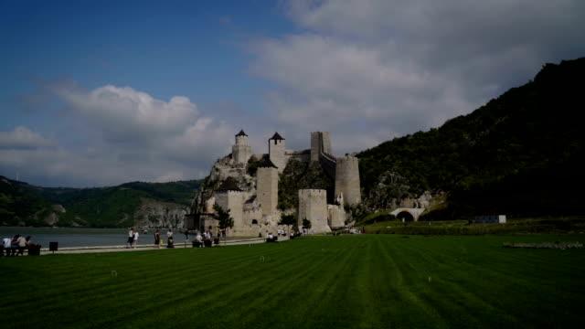 Golubac Fortress on the Danube River in Serbia