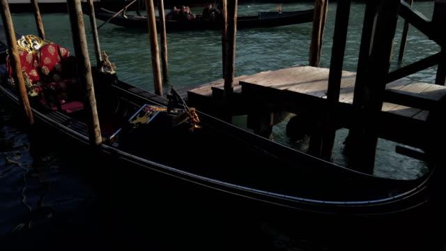 Gondolas and Rialto Bridge in Venice video