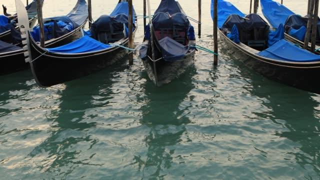 Gondolas From St. Mark Square, Venice, Italy video