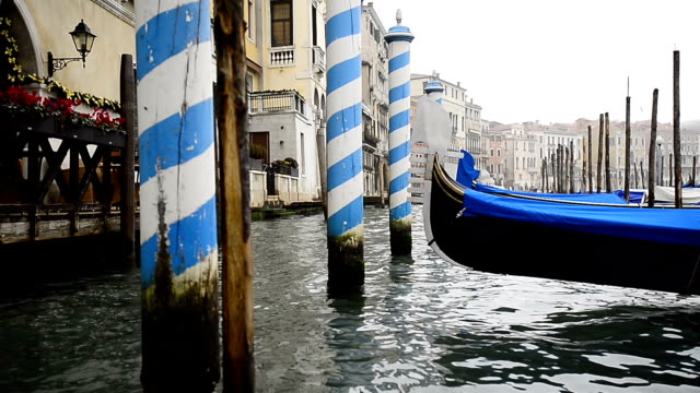 Gondolas in Venice video