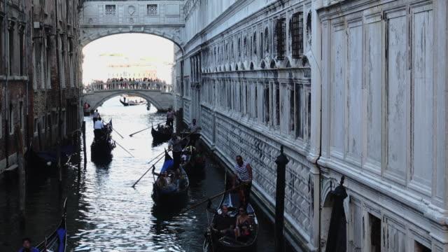 Gondolas on the venetian lagoon video