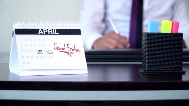 bra fredag korsfästelse - speciella dagar - calendar workout bildbanksvideor och videomaterial från bakom kulisserna