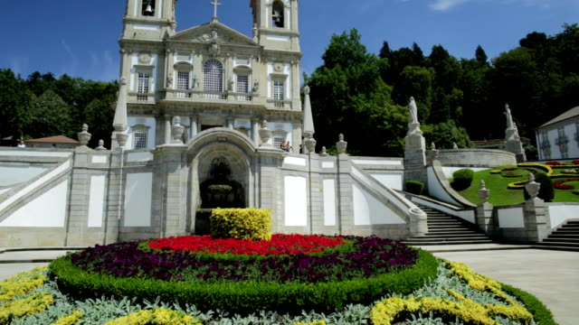 bom jesus do monte braga - neoclassical architecture stock videos & royalty-free footage