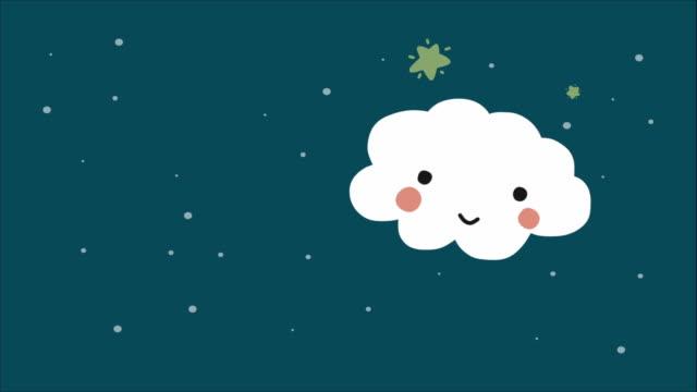 Good night and sweet dreams cloud cartoon