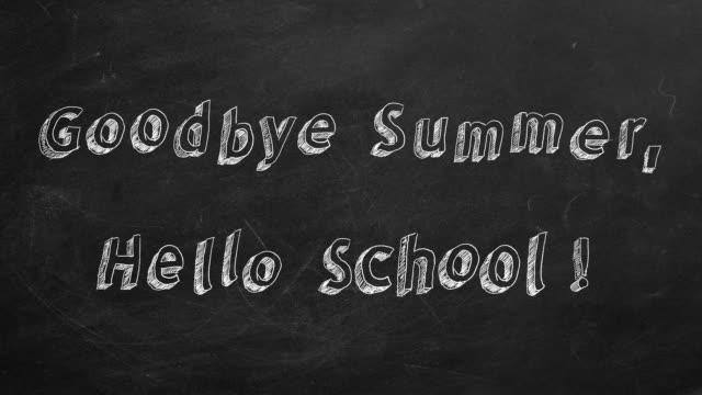 Goodbye Summer, Hello School! video