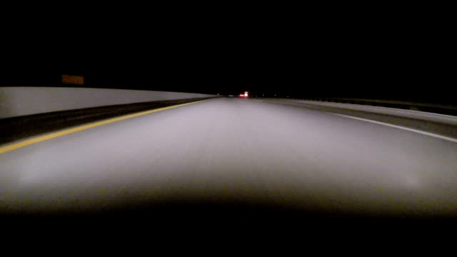 Gopro Attached To Bumper Of Car At Night 10x speed video