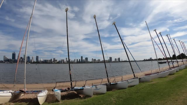 GoPro footage of sailing boats in South Perth in Western Australia video