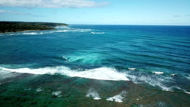 Gorgeous Blue Water in Cove on Maui Island by Drone video
