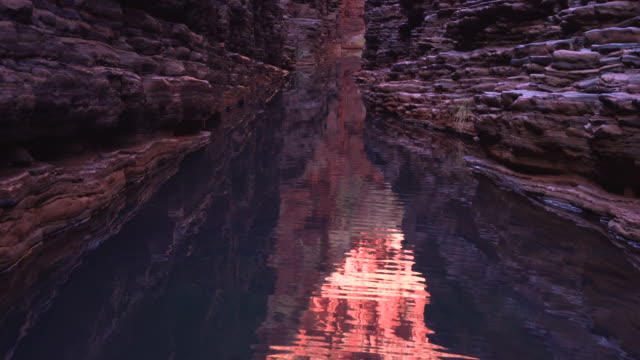 Gorgeous shots of Hancock George and other water eroded canyons around Karijini National Park at golden hour. Western Australian, Australia.