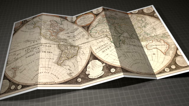 Gorgeous Vintage Old World Map video