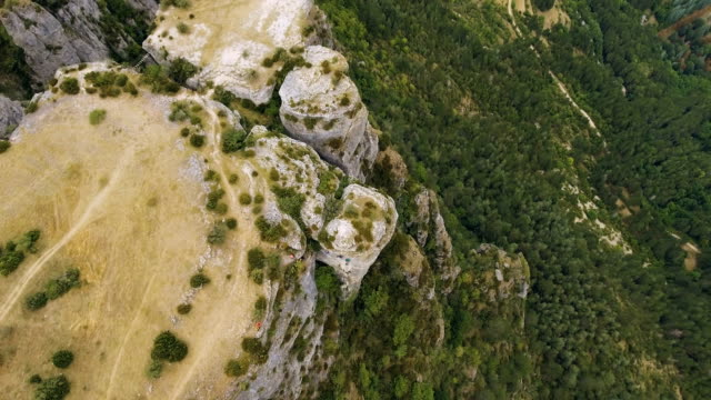 Gorges du Tarn Precipice and Valley Overhead Aerial video