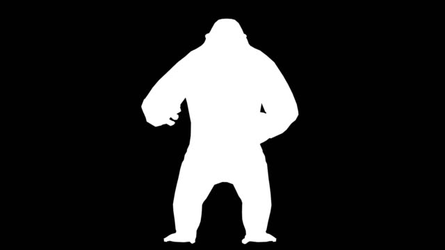 gorilla angry silhouette (loopable) - gorilla stock videos and b-roll footage
