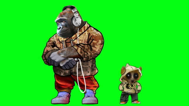 gorilla funk on green screen​ video