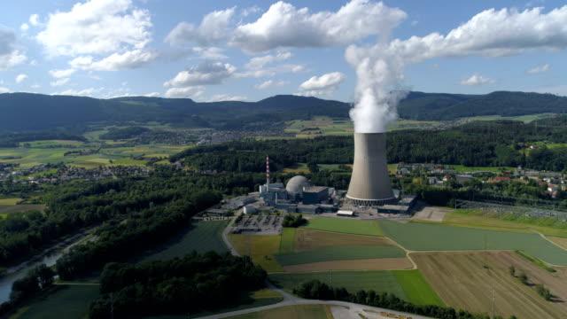 Gosgen nuclear plant - Aerial 4K