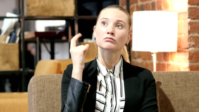 Got Fresh Idea, Pensive Business Woman video