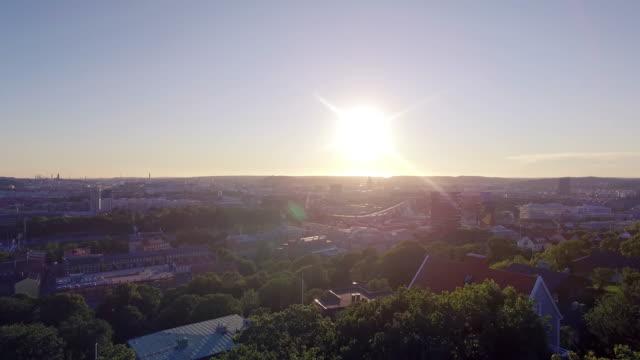 göteborgs stad flygfoto i solnedgång - bohuslän nature bildbanksvideor och videomaterial från bakom kulisserna