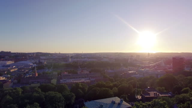 Gothenburg City Aerial View in Sunset video