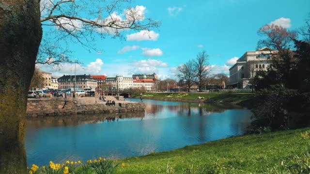 göteborgs stad canal herrgårdsarkitektur - gothenburg bildbanksvideor och videomaterial från bakom kulisserna